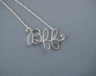 Bff initial necklace