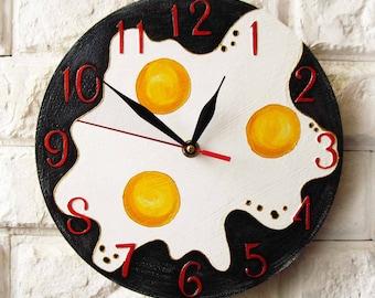 Omelet Wall Clock, Kitchen Decor