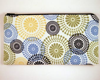 Geometric Pattern Zipper Pouch, Pencil Pouch, Cosmetic Bag, Gadget Bag