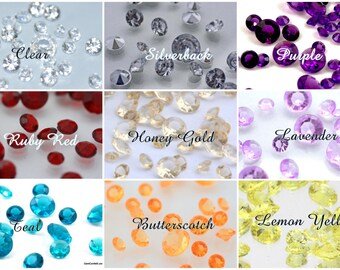 DIAMOND CONFETTI-5.5mm, 7mm, 10mm, or 14mm-Lots of Colors 1.50 Per Ounce-Vase Filler, Table Scatter, Table Gems, Wedding Centerpieces