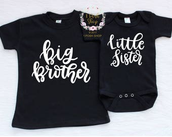 Big Brother Little Sister Shirt, Big Brother Shirt, Little Sister Shirt, Big Brother Little Sister Shirts, Big Brother Little Sister Set