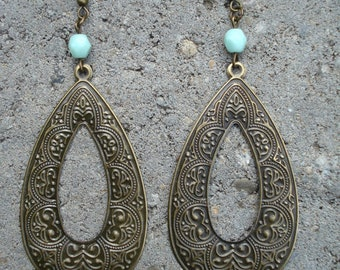 Boho Statement Earrings Antique Bronze Bohemian Earrings Coachella Statement Earrings