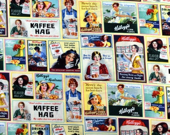 Kelloggs Fabric Ladies Ads  Patch Fabric From Springs Creative