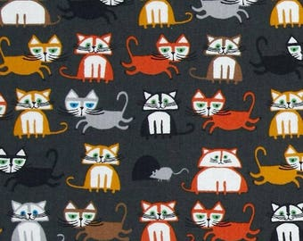 Animal fabric, patchwork fabric, fabric pattern cats cloud coupon 9