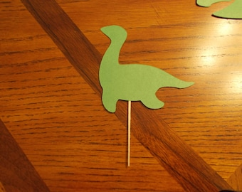 12 Loch Ness Monster Cupcake Toppers! Choose your color!!