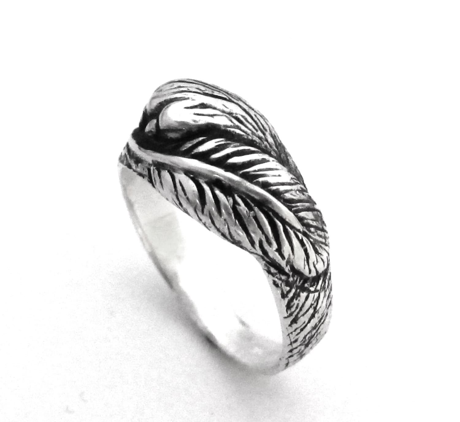marcasite simulated leaf feather art silver oxidised ring womens deco silverly engagement and sterling rings overlapping products