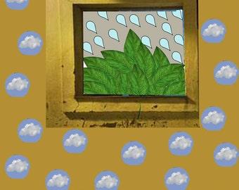 Contemporary art print, Clouds print, Rain, Original art, Pop Art print, Wall art print, Pop art Poster, Modern art, Nature print