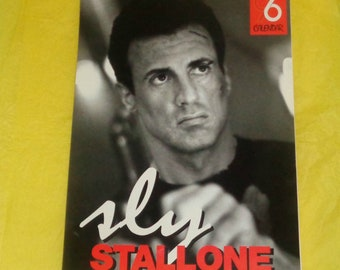 Sylvester Stallone 1996 Oliver Books Calendar Film Memorabilia Full Page Pics Movie Star Vintage Collectable Rambo Rocky Action Hero Muscle