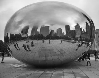 Crystal Ball - Chicago - Black and White Photo Print - Street Photography -  Fine Art Photography (CH05)