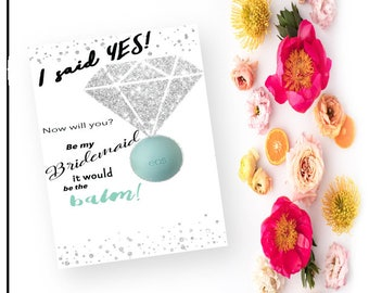 Will you Be my Bridesmaid card for EOS Lip Balm