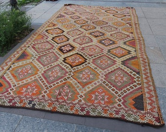large kilim rug-large kilim rug turkish kilim vintage kilim rug, turkish kilim rug, kilim runner,