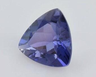 10 pieces iolite faceted trillion shape gemstone