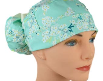 Scrub Hats // Scrub Caps // Scrub Hats for Women // The Hat Cottage // Ponytail // Cotton Blossom