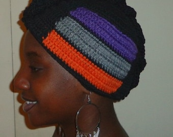 Black Fudge Carrot Cake, Crochet African Mohawk Headwrap