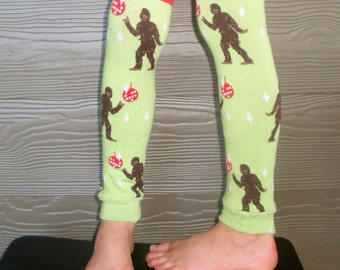 Bigfoot Leg Warmers for Boys and Girls - Yeti Leggings for Baby, Toddler, Big Kid and Tween - Sasquatch Disco - Fun Birthday or Shower Gift