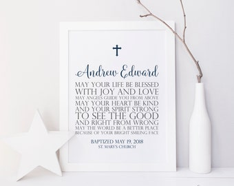 Personalized Baptism Gift. Baptism Printable. Baby Dedication Gift. Baptism Print. Baptism Gift Girl. Baptism Gift Boy. Blessing Printable.