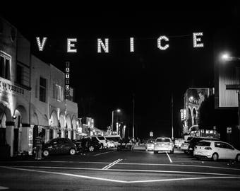 Venice Sign, Venice Beach Photos ,Black and White, Digital Download