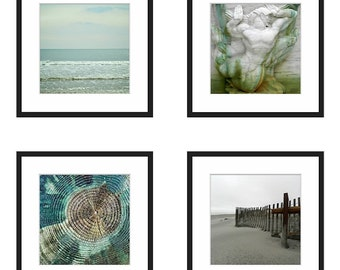 Beach Photography Set of Four Prints,Gallery Wall Set of Three Prints Mint,Wall Art Set of 4,Beach Print Set of 3,Ocean Prints Wall Grouping