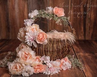 Basket digital photography prop