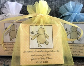 Winnie the Pooh favor gift tags-Wedding tags-Pooh thank you