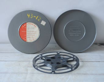 Vintage Compco Film Reel With Storage Can 800FT 16mm #2