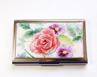 Sewing Needle Case, needle case, Rose, Pansy, Needle holder, Needle organizer, Sewing supplies, Gift for Sewer, Quilter, flower case (3567)