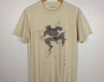 Rare !! OG Supreme Richard Hambleton Jumping Man Splatter T-Shirt Size M