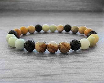 Aromatherapy bracelet Diffuser bracelet for essential oils Diffuser jewelry Boho bracelet Essential oil bead bracelet Lava bead diffuser