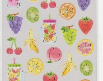 Fruit Stickers - Masking Tape Stickers - Cherie Couleur Stickers - Reference A6526-27A6541-42