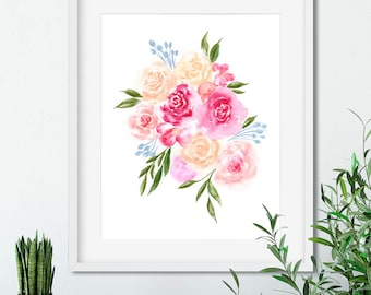 Bright Florals — Art Print