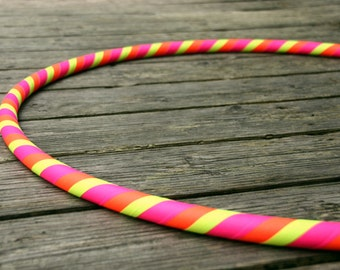 Children's Small Hula Hoop, Taped Pink, Orange & Yellow for Beginners, Dance, Fitness or Poi