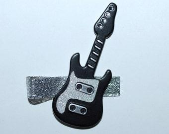 Rock Star Black Guitar Hair Clip - Buy 3 Items, Get 1 Free