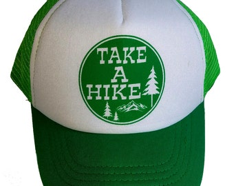 Take a Hike KID'S TODDLER Mesh Trucker Hat Cap Green