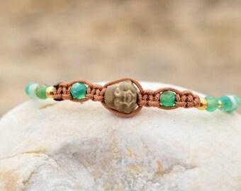 Buddha Bead Bracelet, Inspirational Bracelet for Women, Yoga Bracelet,Green Bead Bracelet, Meditation Bracelet, Yoga Jewelry, Yoga Gifts