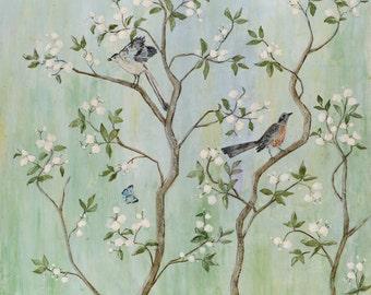 Sweet Chinoiserie ll - Fine Art Paper Print