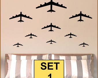 BOMBER JETS Set - Vinyl Wall Decals M-107