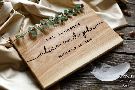 Gift For Couple On Wedding: Wedding Gift Personalized Cutting Board Gift For Couple