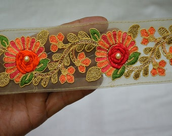 Crafting Trim By 2 Yard Fabric trims and embellishments Indian Laces Embroidered Trim Decorative Sari Border Sewing Trimmings