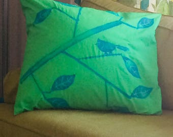 """Hand Printed Throw Pillow Cover 26"""" x 26"""""""