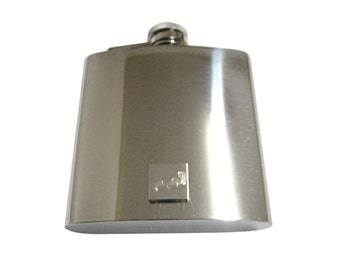 Engraved Walrus 6 oz. Stainless Steel Flask