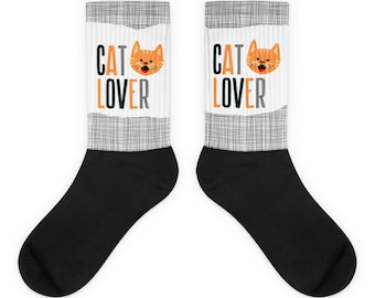 Cat Lover - Orange Tabby Socks