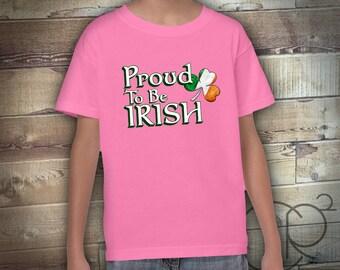 Proud to be IRISH , St Patricks Day Shirt, Patricks Day Baby, St Patricks Day Boy, Toddler Boy St Patricks Shirt, Boy St Pattys Day Shirt