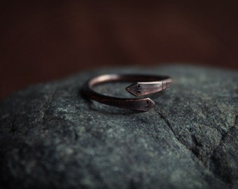 Copper snake ring • Snake  ring • Copper ring • Snake jewelry • Viking ring • Viking jewelry  • Ouroboros ring • Ouroboros jewelry