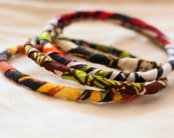 ZIGA  - Bangles out of African Print fabrics
