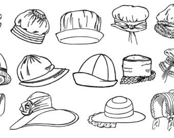1920s Millinery Book Flapper Prohibition Era Infant Child Hat Bonnet Milliner Hats Patterns 1926