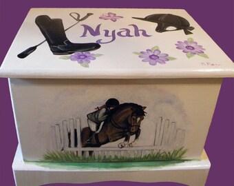 Custom Equestrian Keepsake Box or Treasure chest