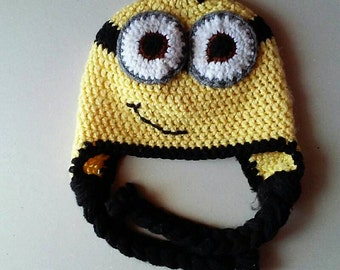Minion inspired crochet hat, baby hat, photo prop, baby shower gift, despicable me inspired hat, baby accessories, hats and caps, child hat