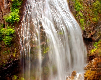 Narada Falls- Mt Ranier - Washington - Photographic Digital Art Print - Waterfall