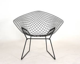 Vintage Harry Bertoia Black Diamond Chair   All Original Condition   Mint    Mid Century