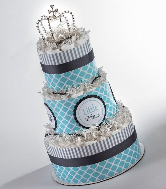 Diaper Cake - Diaper Cakes - Little Prince - Baby Gift - Baby Shower Gift - Prince Baby Shower - Little Prince Diaper Cake